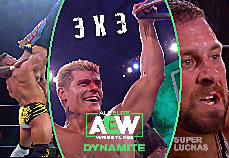 3 x 3: Lo mejor y lo peor de AEW Dynamite 3 de junio 2020