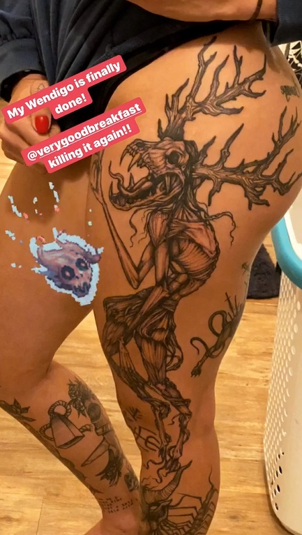 Rhea Ripleys Sexy New Tattoo  Ef Bd 9c Superfights