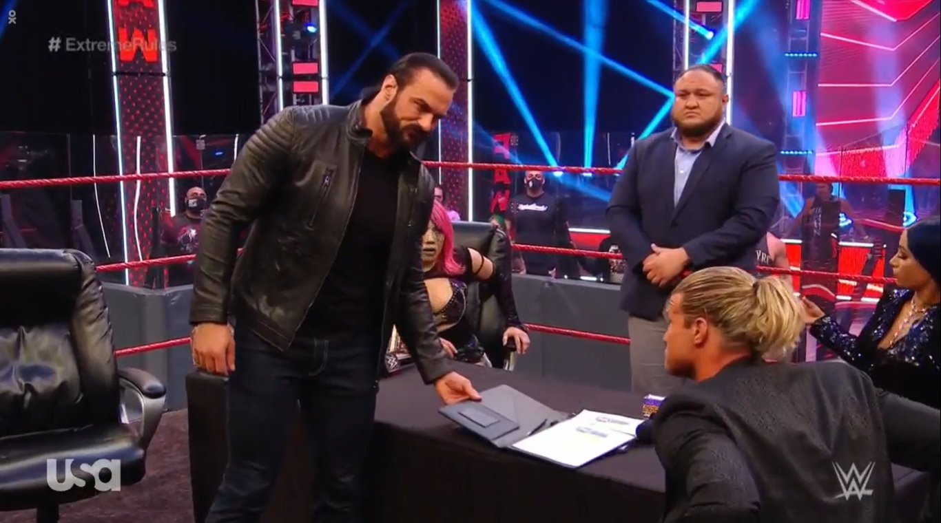 WWE RAW (June 29, 2020) | Live results | Contract signing for Extreme Rules 2