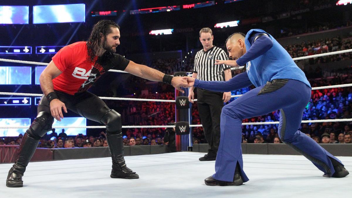 Seth Rollins y Shinsuke Nakamura