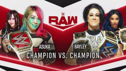 Asuka vs Bayley, campeona vs campeona en WWE Raw (06/07/2020) / WWE