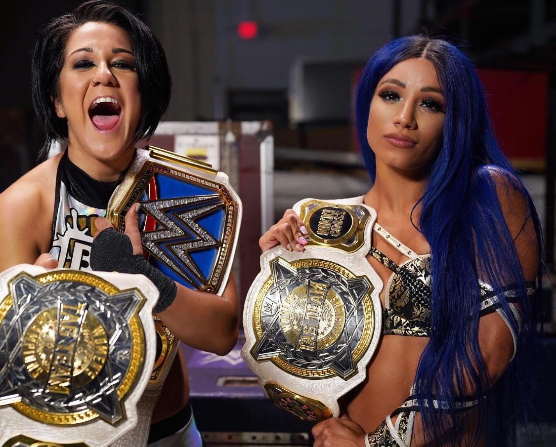 Bayley y Sasha Banks NUEVAS Campeonas de Parejas WWE (05/06/2020 - WWE SmackDown) / WWE