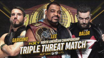 Keith Lee vs Finn Balor vs Johnny Gargano por el Campeonato Norteamericano NXT (24/06/2020) / WWE