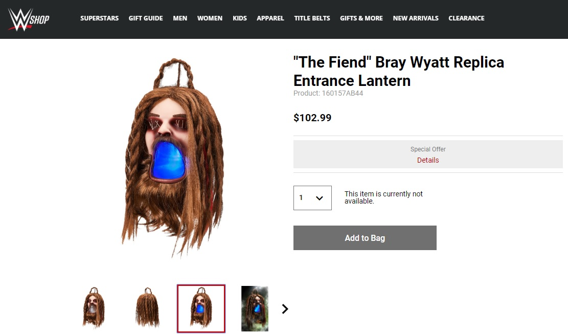 La linterna de The Fiend Bray Wyatt en WWE Shop