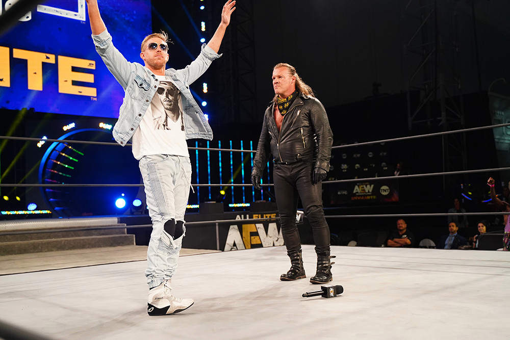 Chris Jericho Reacts to his Iconic Debate with Orange Cassidy on AEW - EssentiallySports