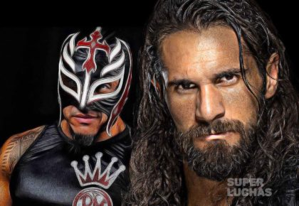 Rey Mysterio y Seth Rollins