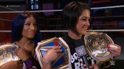Sasha Banks y Bayley como Campeonas de Parejas WWE en WWE Raw (06/07/2020) / WWE
