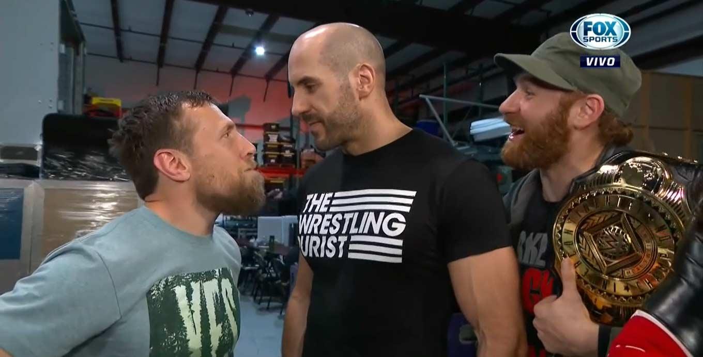 Cesaro, Sami Zayn and Shinsuke Nakamura vs. Drew Gulak and Daniel Bryan Cesaro for champion