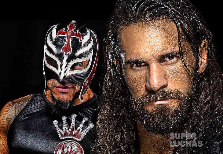 Rey Mysterio and Seth Rollins