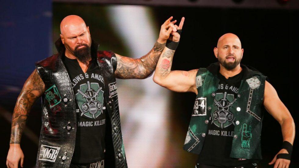 Luke Gallows y Eric Young después de la WWE