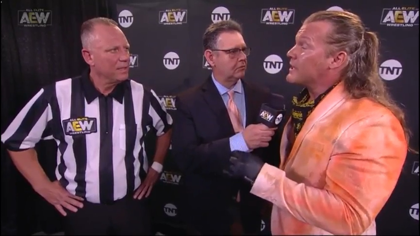Mike Chioda and Chris Jericho at AEW Dynamite (08/12/2020) / AEW