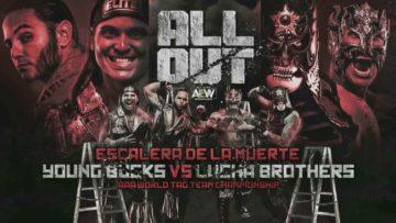 Lucha Brothers (Pentagón Jr. y Rey Fénix) (c) vs. The Young Bucks (Matt Jackson y Nick Jackson)