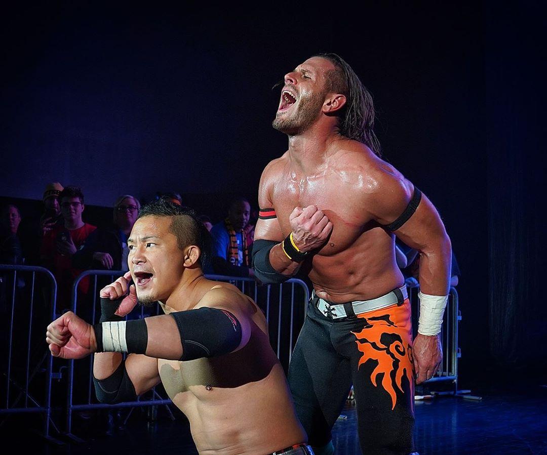 KUSHIDA y Alex Shelley en un WWE NXT Live! (10/01/2020) Twitter.com/JJWilliamsWON Alex Shelley debuta en NXT