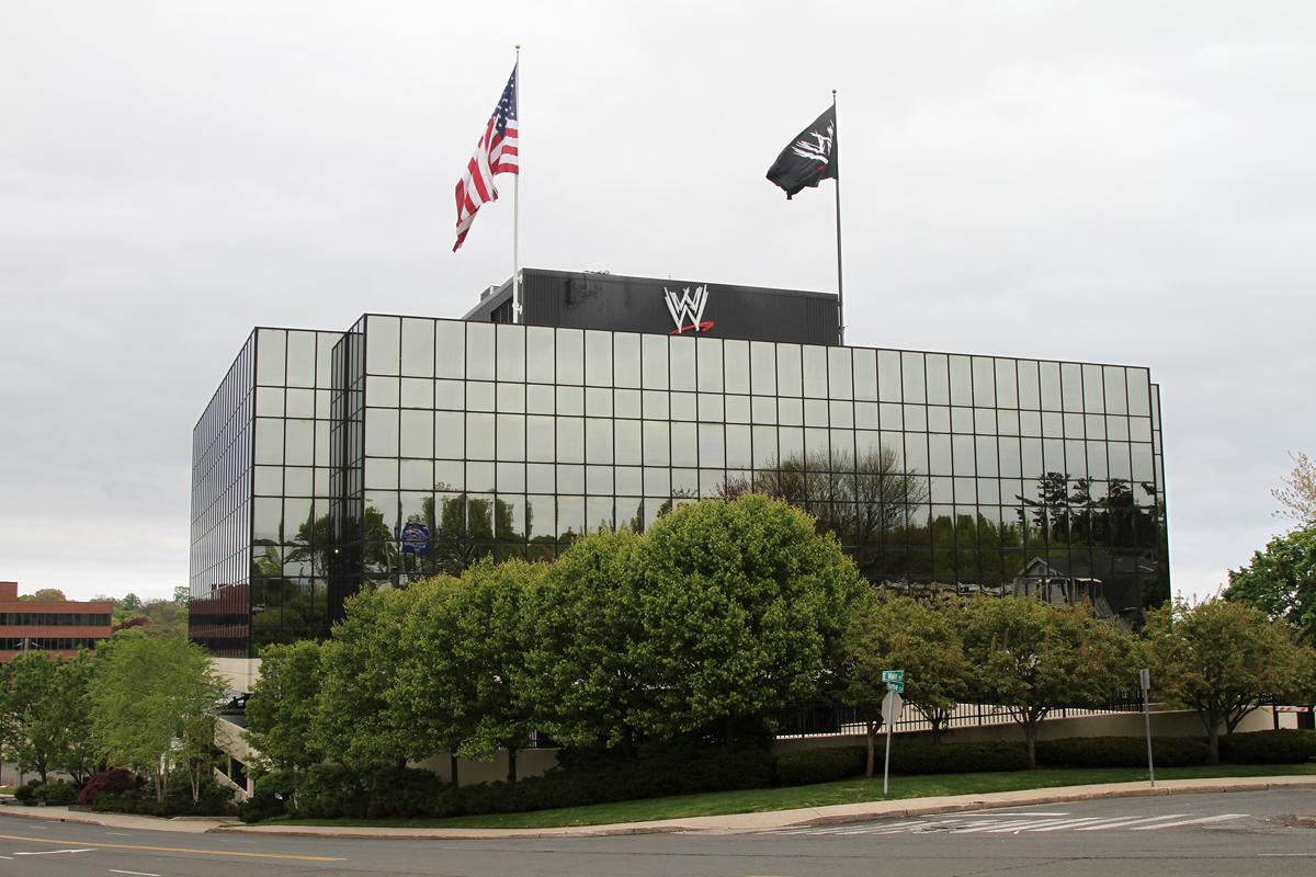 Titan Towers de WWE (1241 East Main Street en Glenbrook, Stamford, Connecticut) / Photo by: John O'Neill (jjron) 02/05/2012