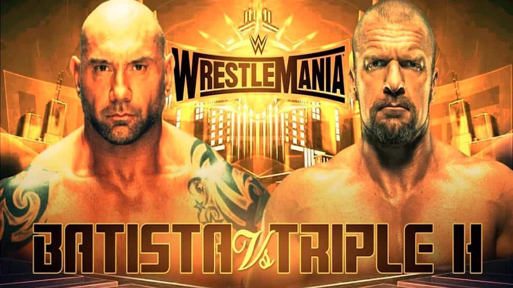 Batista vs. Triple H en WWE WrestleMania 35 (07/04/2019) / Twitter.com/WWE