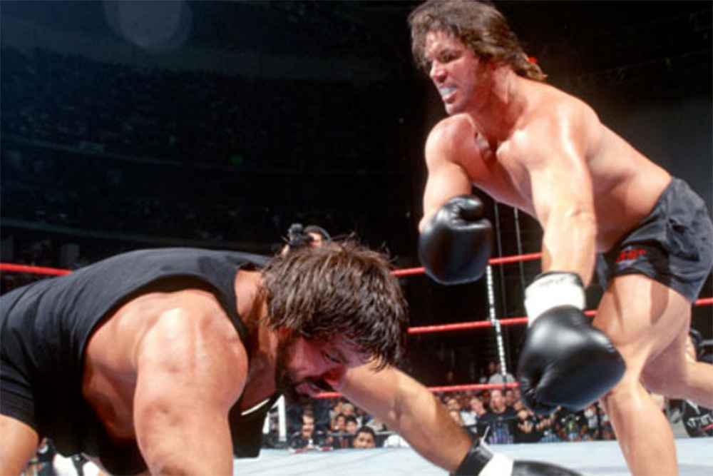 WWE Brawl For All: Bart Gunn vs. Steve Williams.