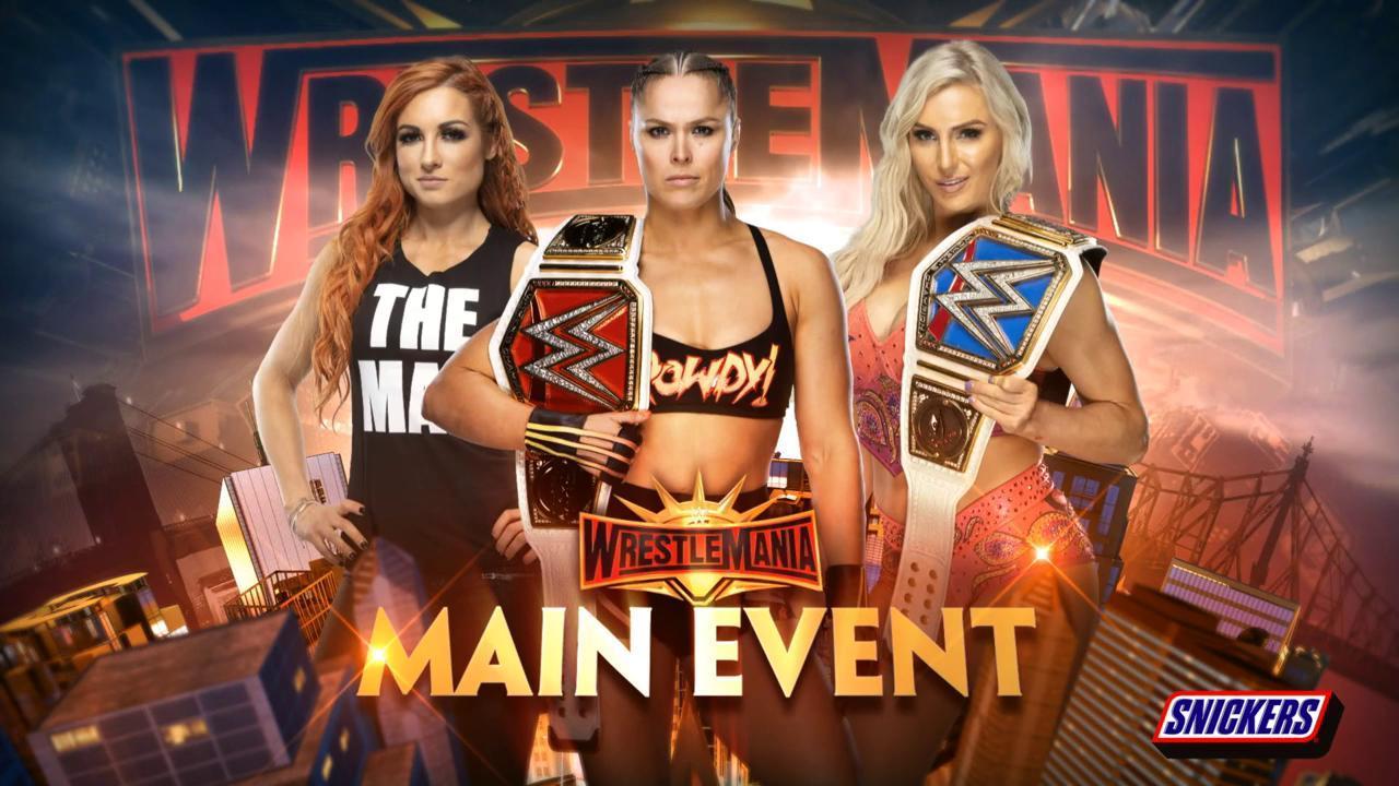 Becky Lynch vs. Ronda Rousey vs. Charlotte Flair por el Campeonato Femenil Raw en WWE WrestleMania 35 (07/04/2019) - WWE