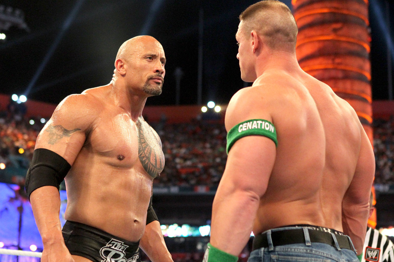 The Rock vs John Cena / WWE