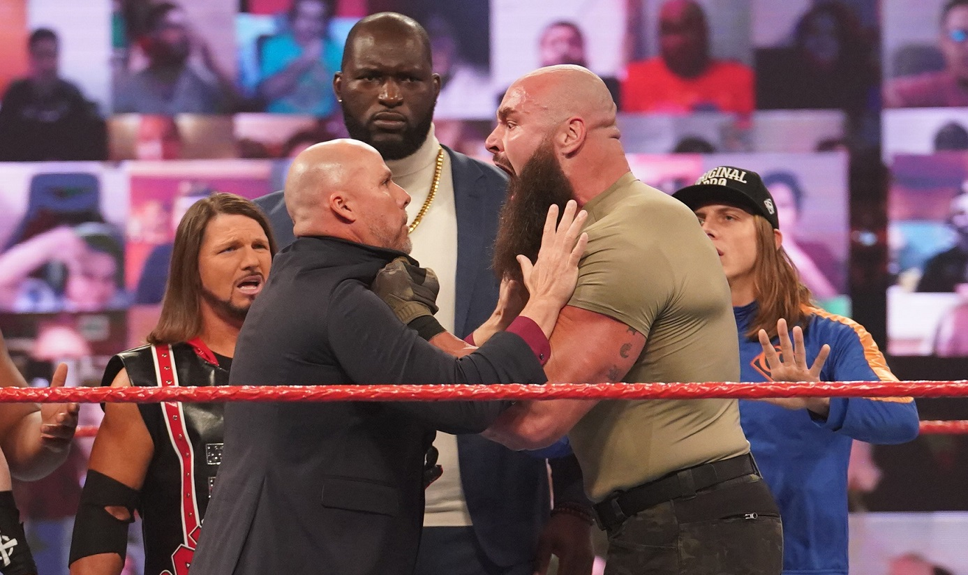 Braun Strowman and the rest of Team Raw on the November 23, 2020 episode of Raw - WWE
