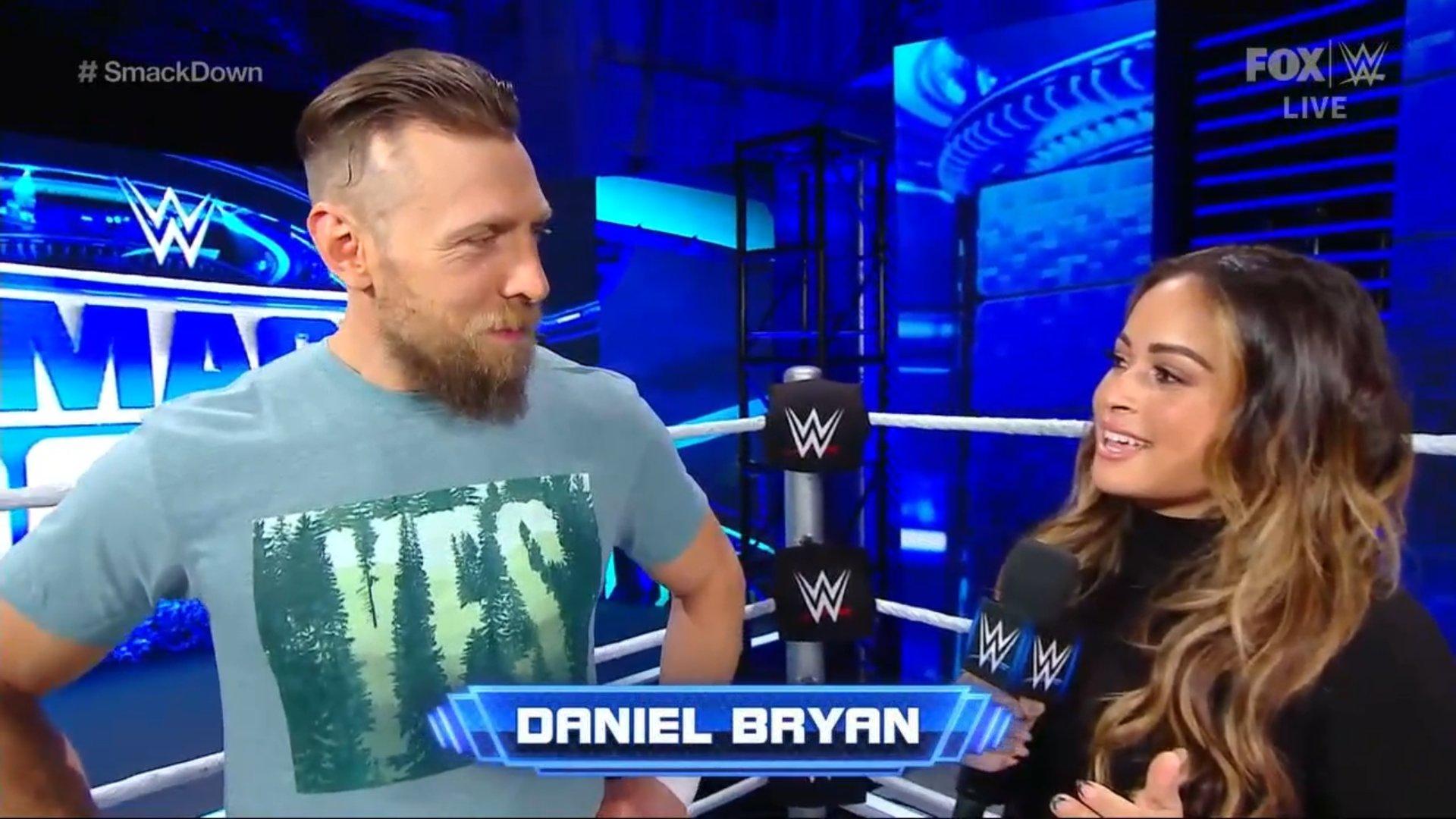 Daniel Bryan is interviewed by Kayla Braxton
