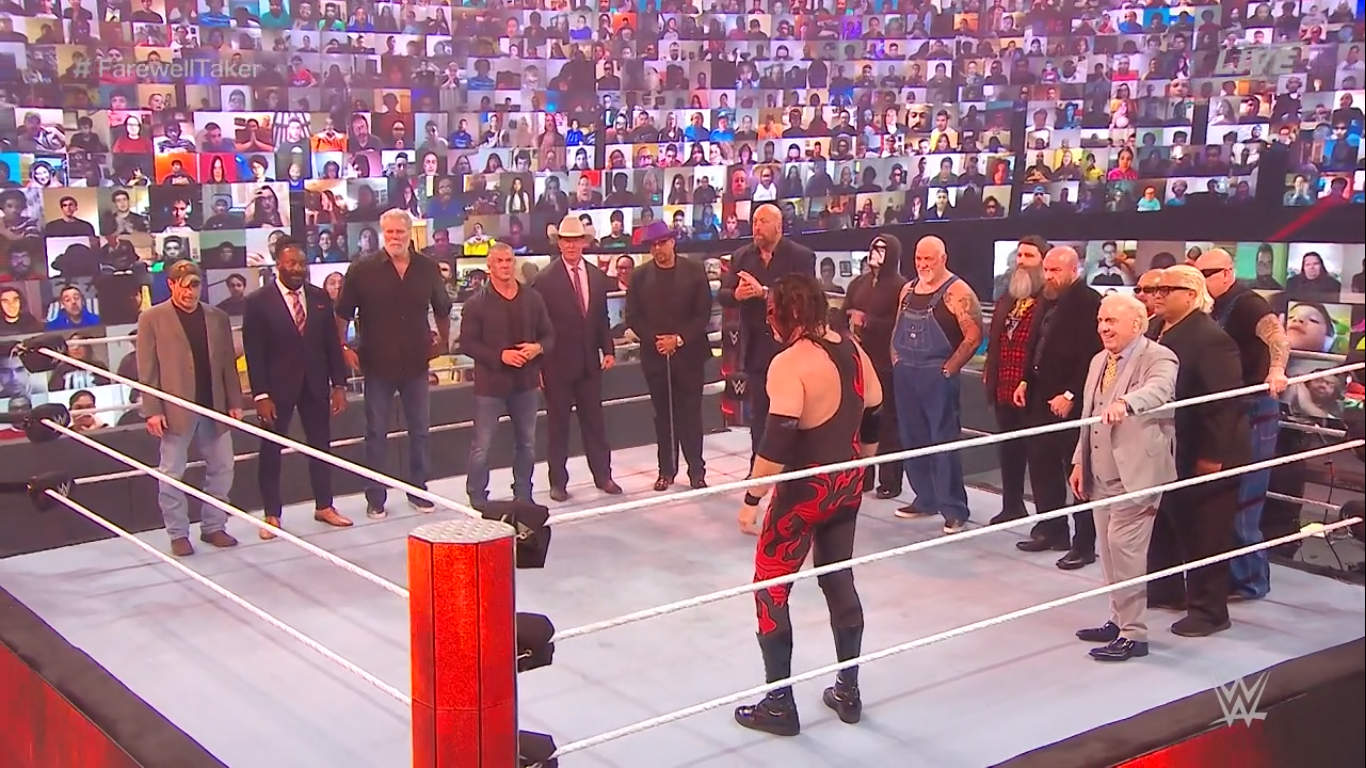 The legends present at Undertaker's farewell at Survivor Series 2020 - WWE
