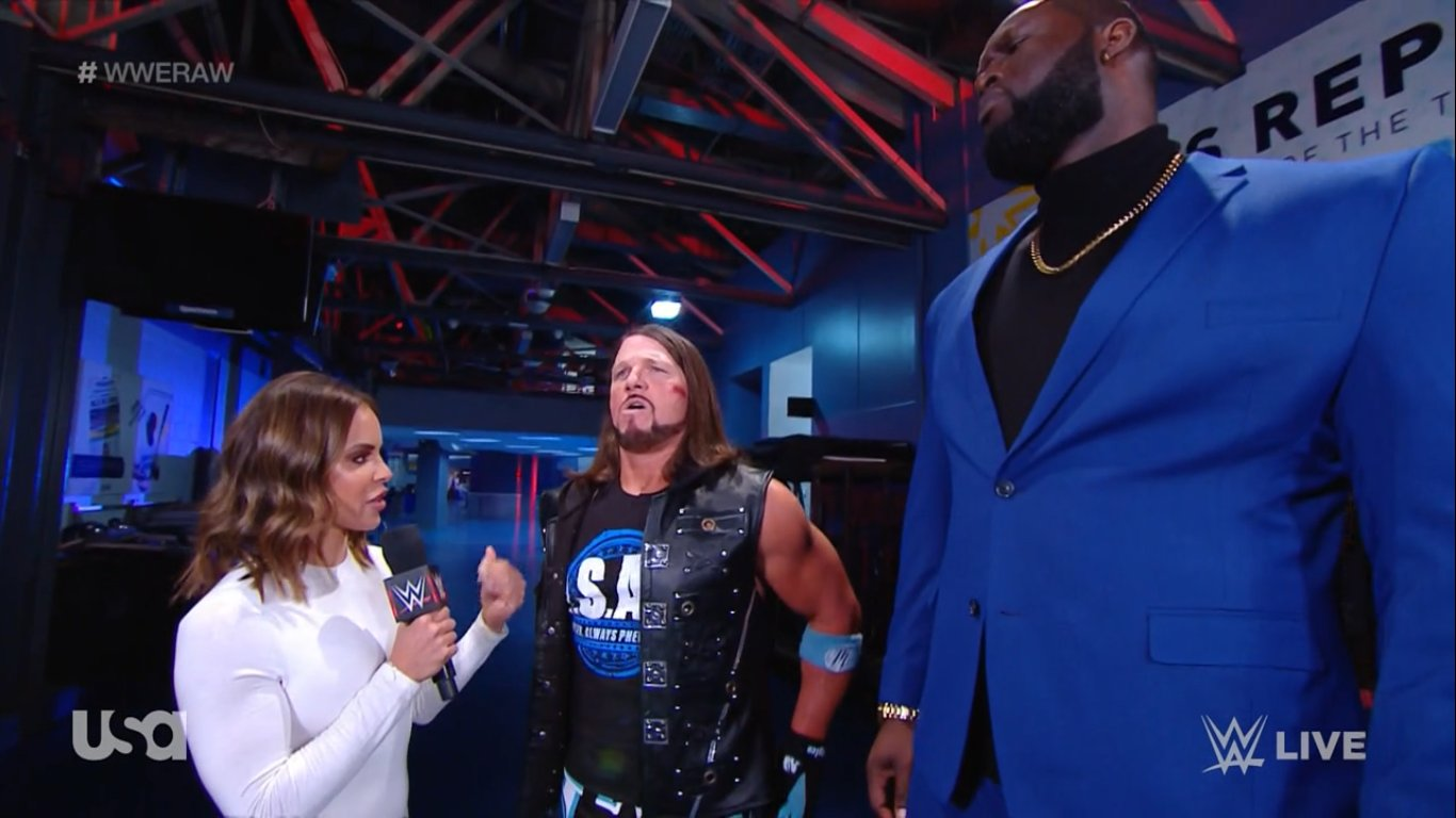 AJ Styles suggests big plans for Omos at Royal Rumble