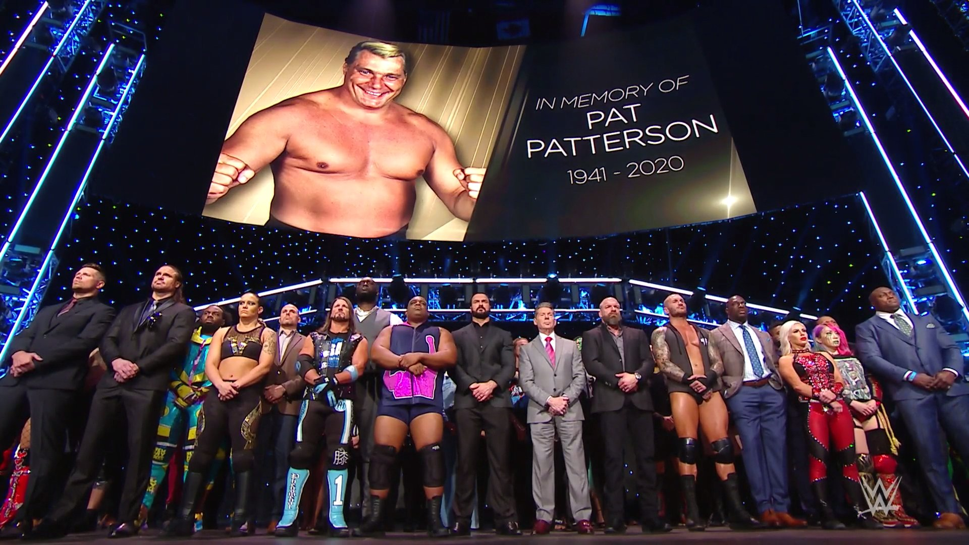 WWE raw superstars tribute to pat patterson December 7, 2020