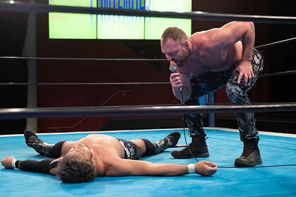 Jon Moxley and KENTA on the NJPW Strong episode of January 29, 2021 - NJPW