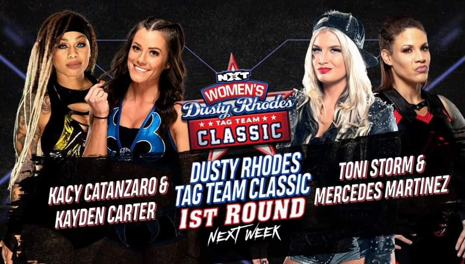 Announcement of the first match of the Dusty Rhodes Women's Tag Team Classic