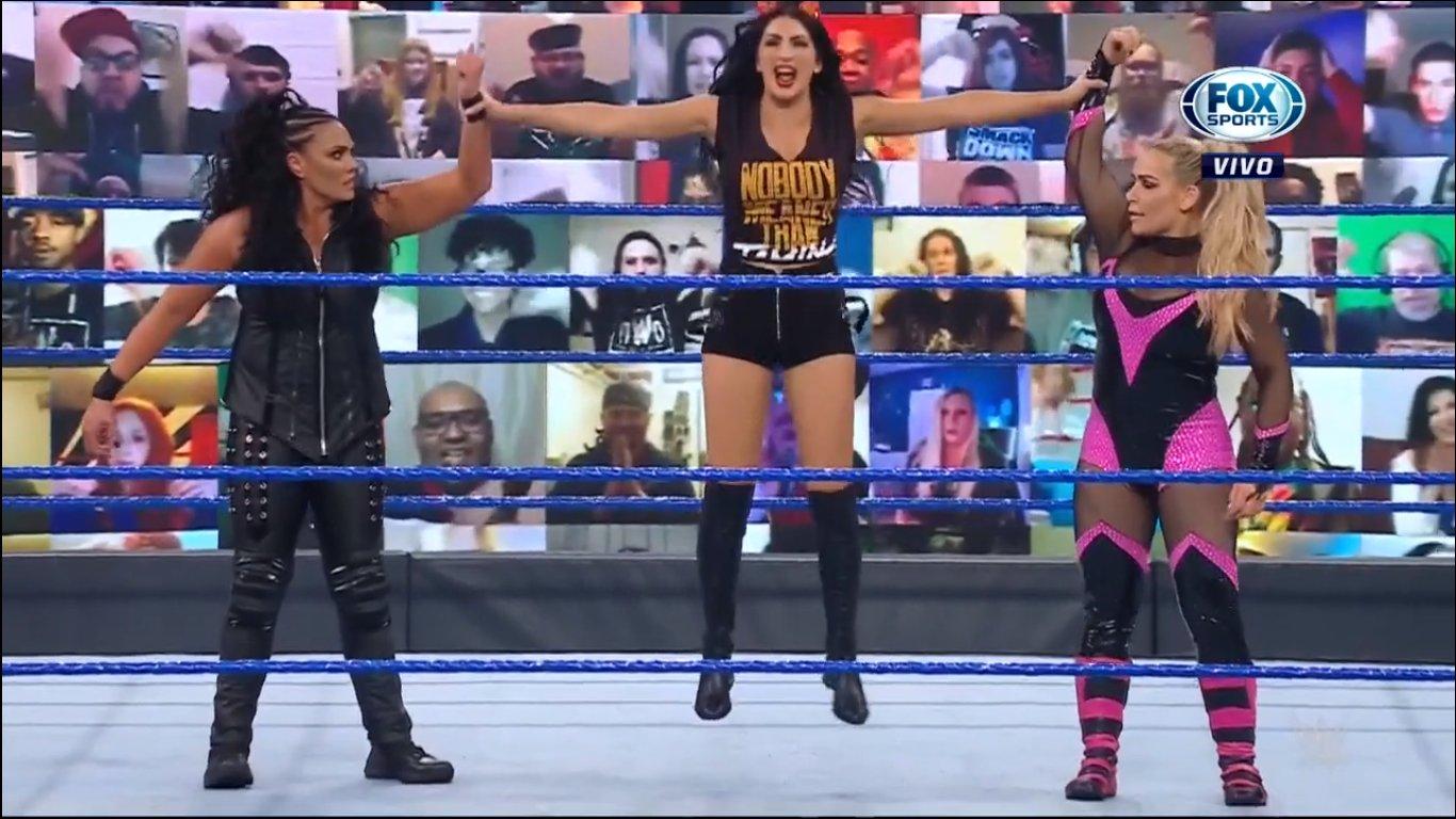 Billie Kay with Tamina and Natalya - SmackDown February 19, 2021