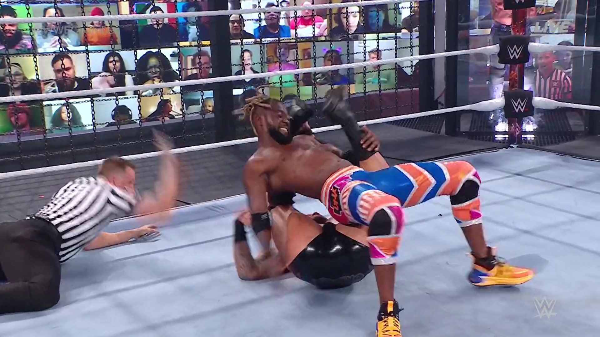 Kofi Kingston eliminates Randy Orton - Elimination Chamber 2021