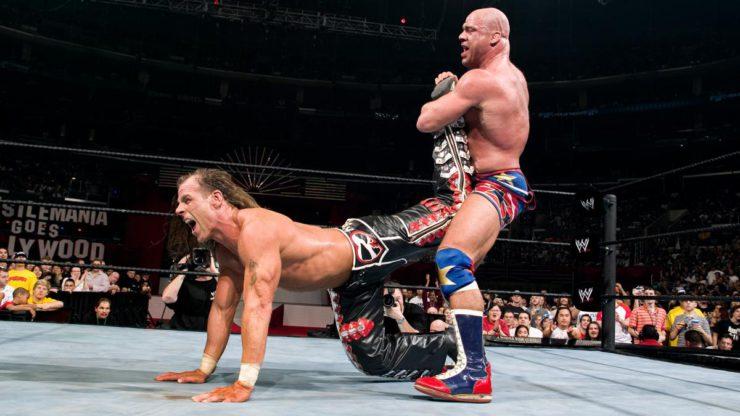 Kurt Angle parle du mouvement qu'il n'a utilisé qu'une seule fois avec Shawn Michaels