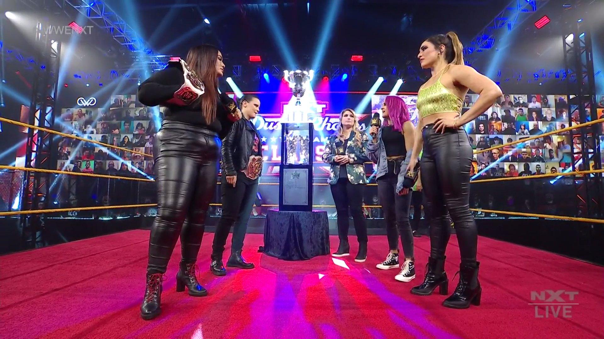 Nia Jax and Shayna Baszler vs. Dakota Kai and Raquel Gonzalez - NXT February 17, 2021