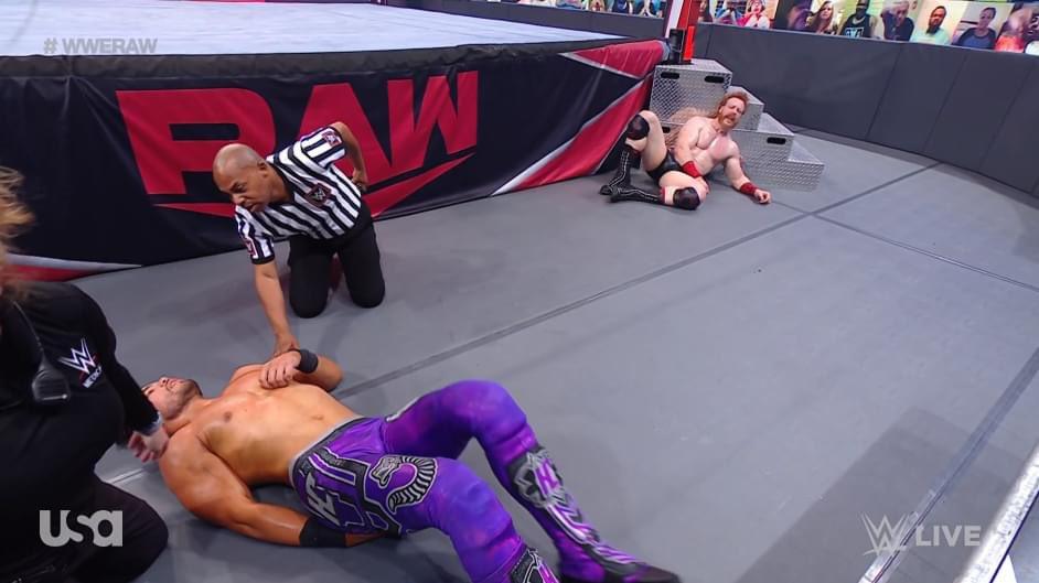 WWE Monday Night RAW Humberto Carrillo suffered potentially serious injury