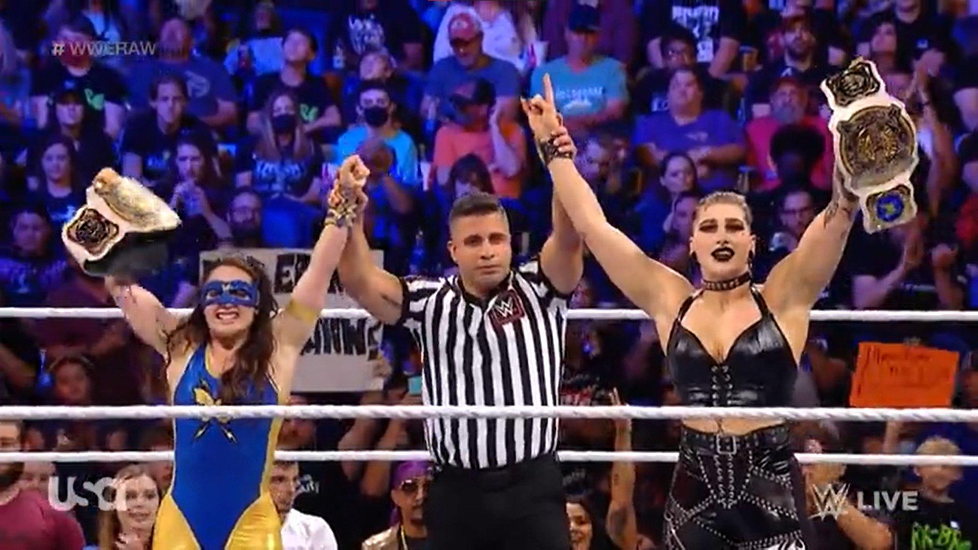 Rhea Ripley and Nikki Ash Raw October 4, 2021