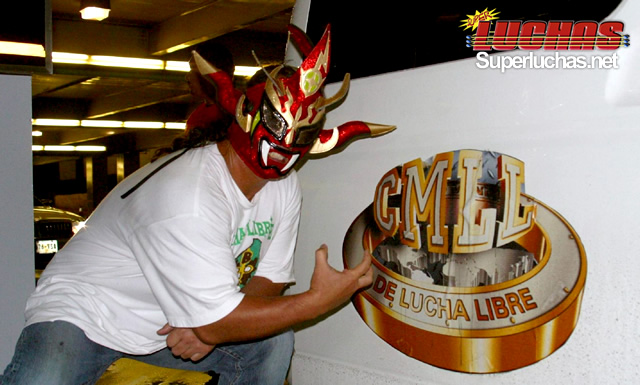 """El legendario Jushin """"Thunder"""" Liger en México (septiembre 2009) / Foto cortesía CMLL para Súper Luchas"""