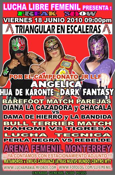 Lucha Libre Femenil presenta: Triangular en Escaleras 1