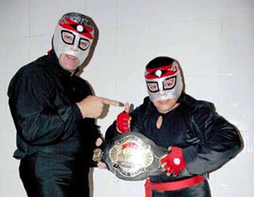 Octagoncito listo para defender el titulo mini AAA en Tlalnepantla. 2