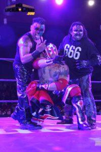 El Ilegal junto a Damian 666 y Halloween en Triple A / www.miluchalibre.com/