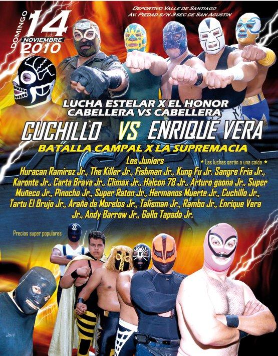 Enrique Vera vs El Cuchillo por las cabelleras el próximo domingo 14 de noviembre 9