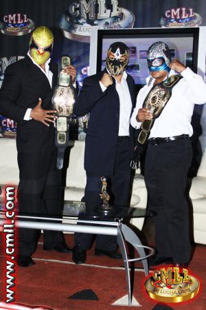 Máscara Dorada renuncia al Campeonato Nacional de Tríos. 1