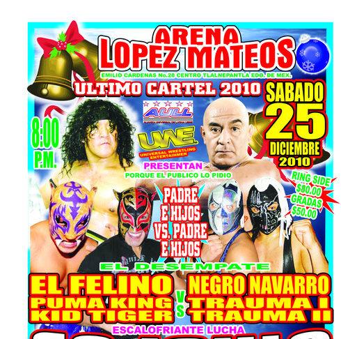 Los Casas vs Los Navarro este 25 de diciembre en la Arena López Mateos 3