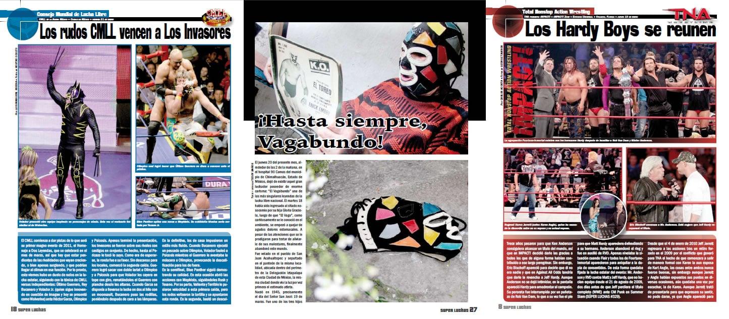 Revista Súper Luchas 398 (Desde el lunes 24 de enero) - Reporte total CMLL vs NJPW en Tokyo, Japón 1