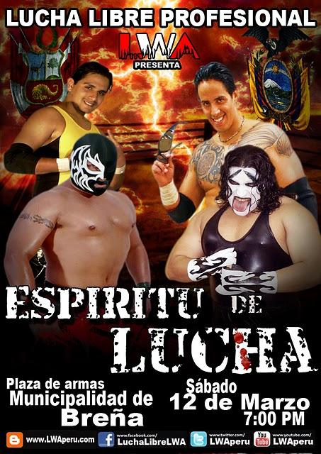 Poster oficial LWA:Espiritu de Lucha 2011