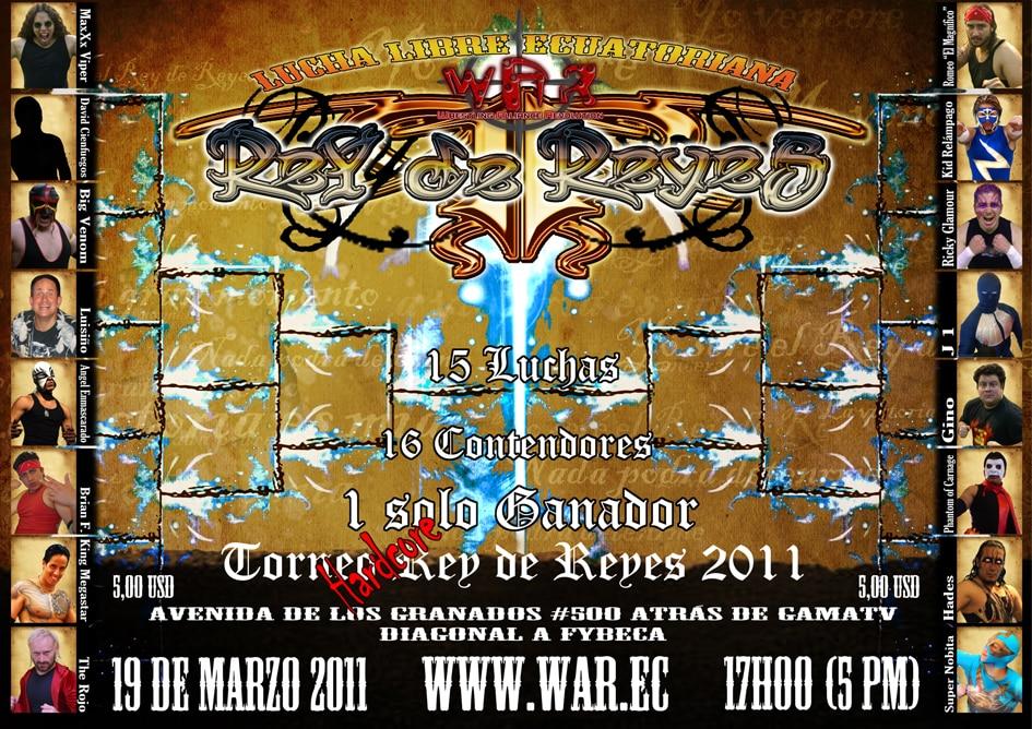 Poster oficial evento WAR: Rey de Reyes 2011