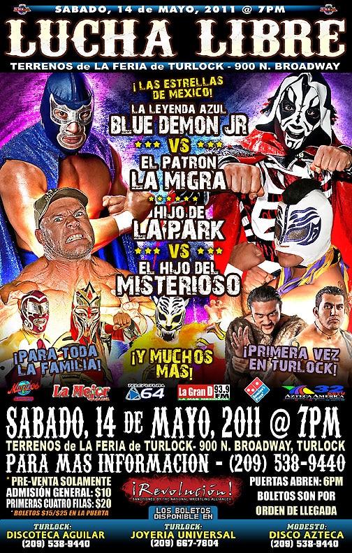 Listo el cartel de Pro Wrestling Revolution- Demon vs Oliver John- se dará el debut del Hijo de Misterioso enfrentando a Hijo de LA Park 2
