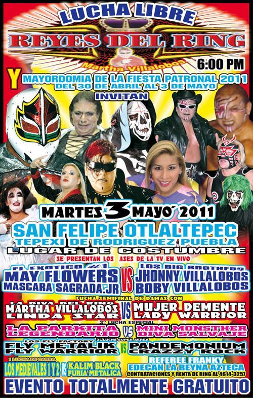 Máscara Sagrada Jr. presente con los Reyes del Ring en San Felipe Otlaltepec (3 de mayo) 5