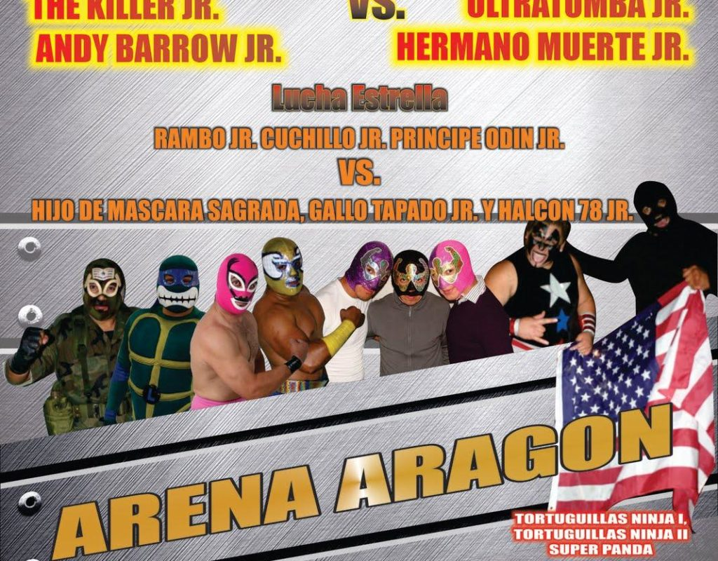 Los Juniors llegan a la Arena Aragón este 15 de mayo – Los Campeones de Tercias de los Juniors (Máscara Sagrada Jr., Gallo Tapado Jr. y Halcón 78 Jr.) presentes 1