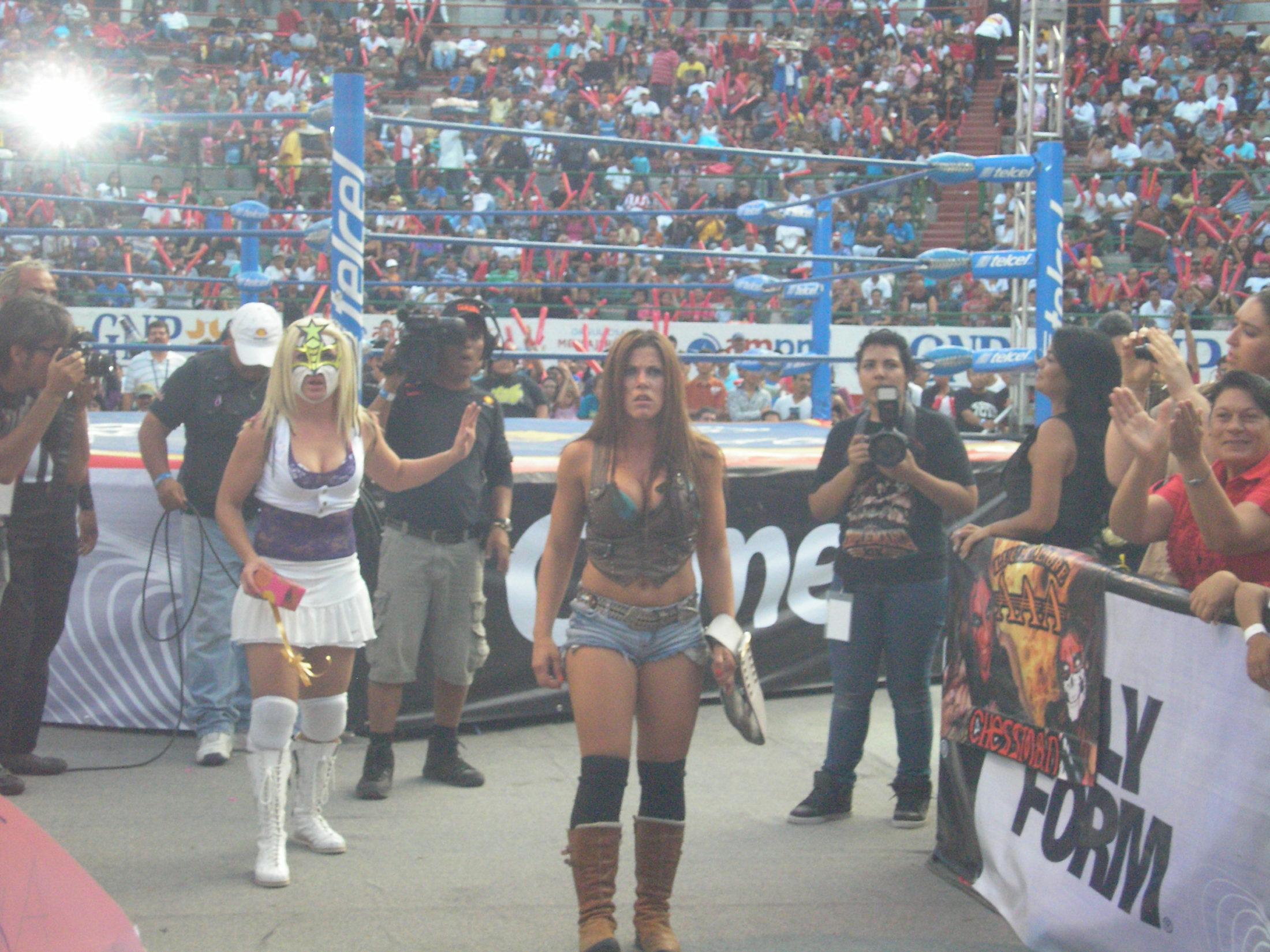 AAA Verano de Escándalo 2011 (resultados 31 de Julio) ¡Jeff Jarrett retiene con la ayuda del Zorro enmascarado!- X- Fly pierde la cabellera- Pimpinela nueva Reina de reinas 3