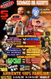 Arena Coliseo de Monterrey 28 de agosto: Karaoui contra Aníbal Jr. 2